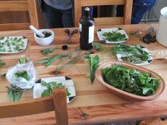 préparation de la cueillette en cuisine
